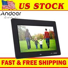 "Digital Photo Frame 10""Inch LCD Picture Calendar Clock MP3 MP4 Movie Player Q2I4"