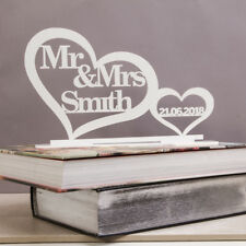 Personalised Top Table Mr & Mrs Sign & Date, Mr and Mrs Wedding Decoration Gift