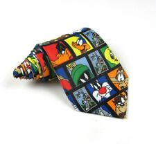 Looney Tunes Stamp Collection Mens Cartoon Polyester Tie -  3.875""