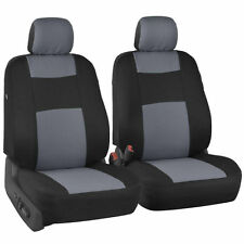 Auto Car Seat Cover Cushion 5 Seats Front & Rear Headrest Cover Gray Universal