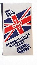 """Vintage The Who Concert WPLJ 99.5 Promo Cloth Sticker 3""""x5"""" Unused"""