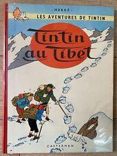 HERGE TINTIN AU TIBET EO 1960 belge B29 TTBE++ NEIGE BIEN BLANCHE