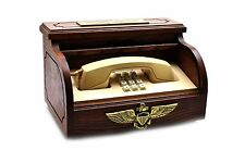 Vintage US Navy Captain Executive Desk Phone in Wood Box Western Electric