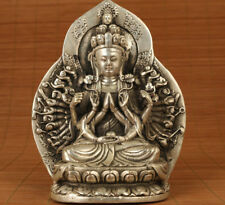 Antique Old Copper Handmade thousand-hand Kwan-yin Buddha Consecrate Statue