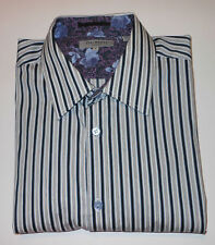 TED BAKER MULTI COLOR STRIPED L/S FINE COTTON MIX DRESS SHIRT. TBK8406B6