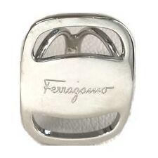 Ferragamo Scarf accessory Vala logo Scarf ring Metal Silver