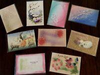 Lot of 9 Vintage ~AIRBRUSHED~Embossed ~Antique~EASTER~Postcards-g270