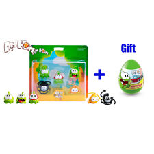 cut the rope om nom toys set of 5 action figures of  nommies + surprise egg