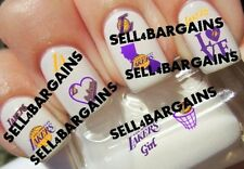 NBA LOS ANGELES LAKERS BASKETBALL LOGOS》10 Different Designs》Nail Art Decals