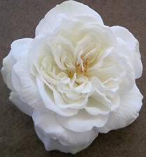 "Large 5 1/2"" White Rose Silk Flower Hair Clip,Wedding,Prom,Dance,Bridal,Party"