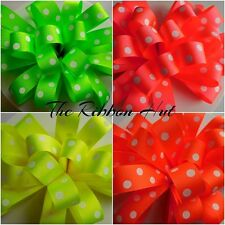 15mm Florescent Neon Spotty Grosgrain Ribbon 4 Colours 4 Lengths by Berisfords