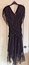 Futures 1980s Vintage Original Black Lace Madonna Gothic Wedding Style Dress 12