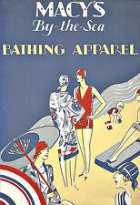 Art ad Macys por el mar baño Apparel Alta Costura Deco cartel impresión
