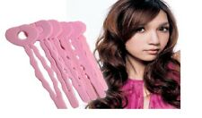 6 Foam Wavy Hair Rollers Sleep In Curler Styling Curls Bendy Curl Black Pink