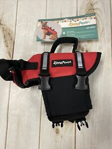 Zippy Paws Dog Life Jacket Sz XXS 6-10 ins Flotation Device Reflective Trim NWT