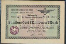 Colonia Pick-No.: S1289 Inflationsgeld el Alemán Reichsbahn Colonia usad(8590229