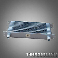 10 Row AN-10AN Aluminum Engine Transmission 262MM Oil Cooler Silver