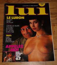 LUI-DéCEMBRE 1985-# 263-Thierry LE LURON-AGNES SORAL-GERARD DE VILLIERS-ASLAN