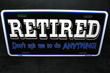 RETIRED METAL NOVELTY LICENSE PLATE TAG FOR CARS
