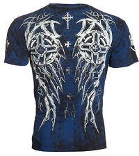 ARCHAIC by AFFLICTION Mens T-Shirt SPIKE WINGS Tattoo BLACK Biker MMA UFC $40
