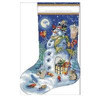 Cross Stitch Kits Embroidery Kit - Christmas Stockings, Snowman Patterns S8S5 EL
