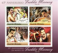 More details for guinea-bissau music stamps 2011 mnh freddie mercury queen famous people 4v m/s