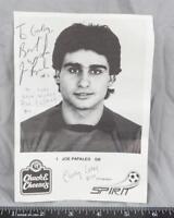Vintage Pittsburgh Spirit Joe Papaleo Soccer Goalie Autographed 5x7 B&W ajd