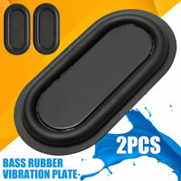 2pcs Bass Speaker Passive Radiator Auxiliary Black Bass Rubber Vibration Plate