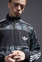 Adidas x Bathing Ape Firebird Track Top Bape Jacket Grey Camouflage Camo Zip