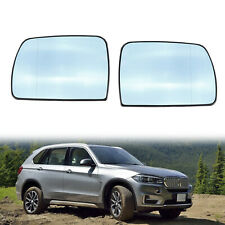 Pair Mirror Glass Heated Blue for BMW X5 E53 2000 2001 2002 2003 2004 2005 2006
