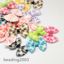 10pcs Mixed Handmade Woven Grosgrain Bowknot for Costume Accessories 54x42x8mm