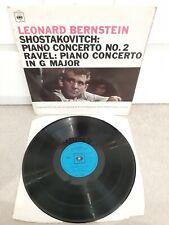 BRG 72170 SHOSTAKOVITCH RAVEL Piano Concertos NYPO BERNSTEIN LP