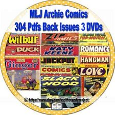 MLJ Archies Comics Archie Andrews, Jughead  Betty  Veronica 304 PDFs 3 DVD