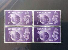 GB Pre Decimal George VI Mint Block of Olympic Games stamps