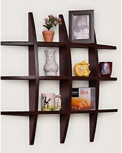 Modern Floating Wall Shelves, Wooden Wall shelves, Wall Mounted Shelves( Brown)