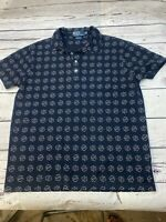 RALPH LAUREN POLO SHIRT SIZE L CUSTOM FIT POLO LARGE  Navy & off white