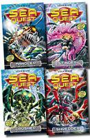 Sea Quest Series Collection Adam Blade 4 Books Set (5 to 8) Shredder, Stinger