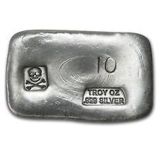 10 oz Silver Bar - Skull & Bones (PG&G) - SKU #80092