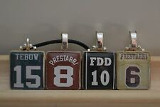Any TEAM # Number Name Custom JERSEY Scrabble Tile Necklace Charm Key-chain Gift