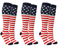 American Flag Stars and Stripes Knee High Socks USA