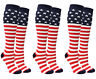 American Flag Stars and Stripes Knee High Socks USA