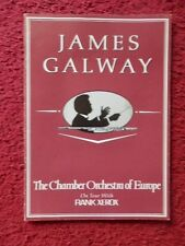 JAMES GALWAY IRISH FLUTE PLAYER  AUTOGRAPHED PROGRAMME