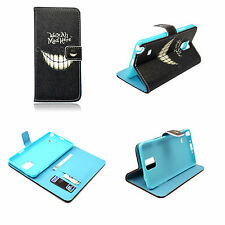 Card Slot PU Leather Wallet Phone Case Cover Stand For Samsung Galaxy Note 4 IV
