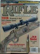 Rifle Sporting Firearms Journal March 2017 Browning X Bolt Guns FREE SHIPPING sb
