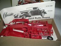 1933 Rolls Royce Classic Lindberg  Model Kit  In Original Box 1:32 scale 1979