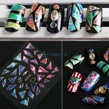 15 Sheet Shining 3D Design Nail Art Stickers Tip Decal Manicure DIY Decorations
