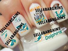 NFL MIAMI DOLPHINS FOOTBALL LOGOS》10 Different Designs》Tattoo Nail Art Decals