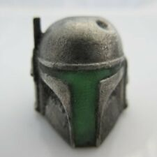 Boba Fett w/ Glow-in-the-Dark Paracord/Leather Bead in Pewter by Marco Magallona