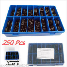 250In1 Black Autos Truck Rubber Grommet Firewall Hole Plug Gasket Assortment Kit