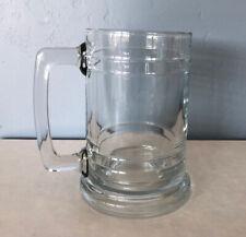 Clear Glass Beer Stein/Mug Vintage